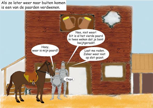paarden als ridder