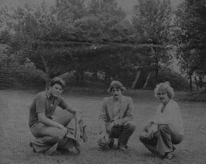 Roel van Assendelft , Ton Capello en Wim Rotstege. vlnr