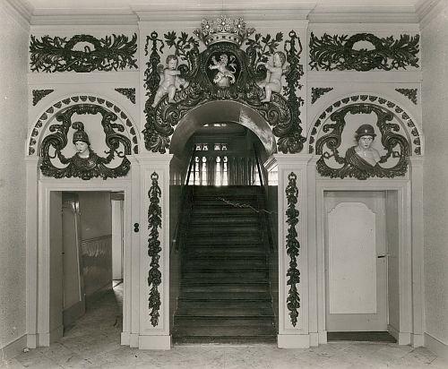 Het interieur van het Landshuis